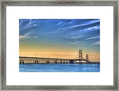 Mackinac Sunset Framed Print