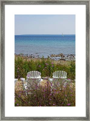 Mackinac View Framed Print
