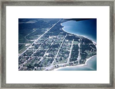 Mackinaw City In The Fifties Framed Print