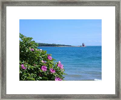 Framed Print featuring the photograph Mackinaw Island Lighthouse by Bill Woodstock