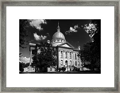 Macoupin County Courthouse Framed Print by Jeff Burton