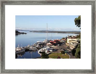 Macquarie Harbour Tasmania All Profits Go To Hospice Of The Calumet Area Framed Print