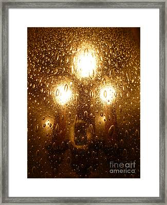 Macro Lights Framed Print