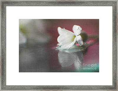 Macro Wild Floral Textured Framed Print