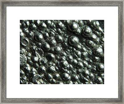 Macrophotograph Of High Purity Cobalt Framed Print by Alfred Pasieka
