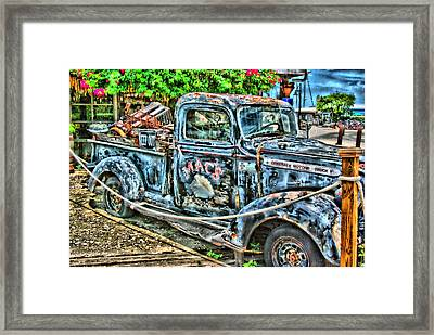 Mac's Truck Framed Print