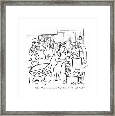 Macy-macy-macy Saves Framed Print