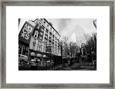 Macys At Broadway And 34th Street Herald Square New York City Framed Print by Joe Fox