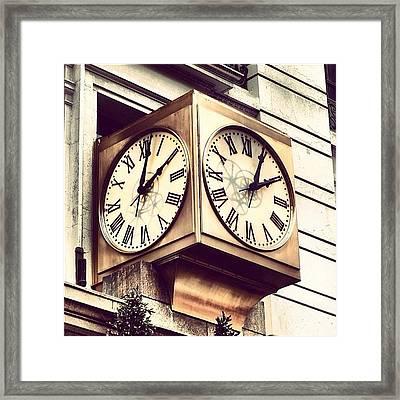 Macy's Clock Framed Print
