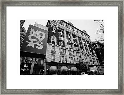 Macys Department Store New York City Framed Print by Joe Fox
