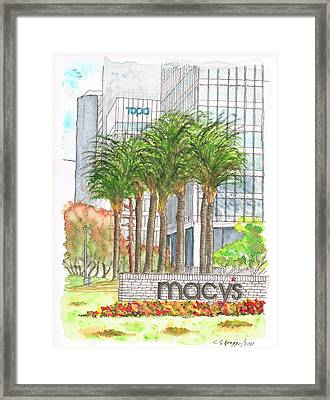 Macy's In Century City Mall - Beverly Hills - California Framed Print by Carlos G Groppa