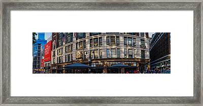 Macy's New York Panoramic Framed Print