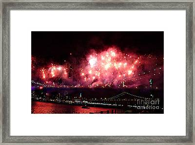 Macy's Spectactual 2014 Fireworks Framed Print