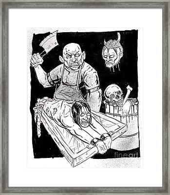 Mad Butcher Framed Print by Alaric Barca