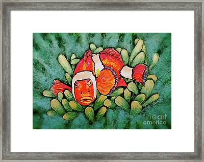 Mad Clown Framed Print by Linda Simon