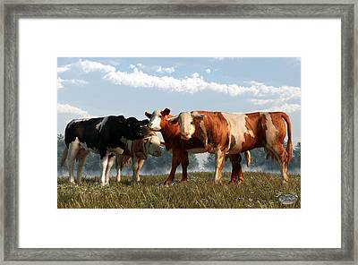 Mad Cows Framed Print by Daniel Eskridge