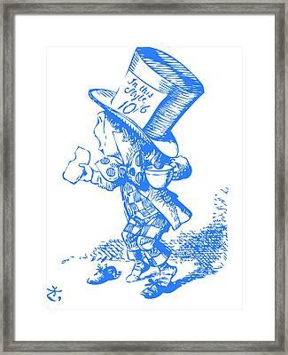 Mad Hatter Blue Framed Print