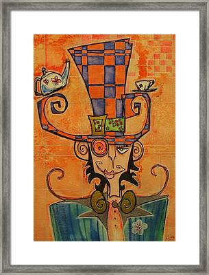 Mad Hatter Framed Print by Ellen Henneke