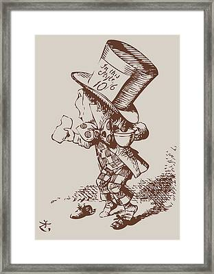 Mad Hatter Tea Colored Framed Print by