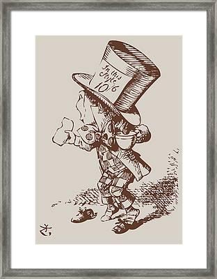 Mad Hatter Tea Colored Framed Print