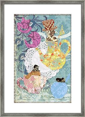 Mad Hatter's Tea Party  Framed Print by Savannah Bertozzi