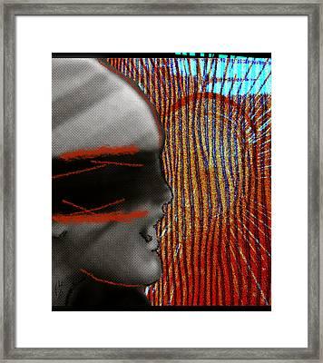 Mad Howling Framed Print