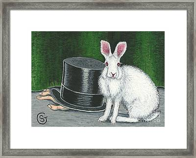 Mad March Hare -- Now You See How It Feels Framed Print