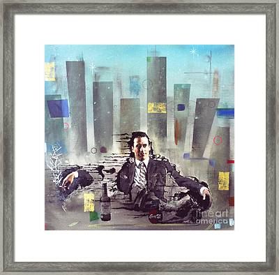 Mad Men Disintegration Of Don Draper Framed Print