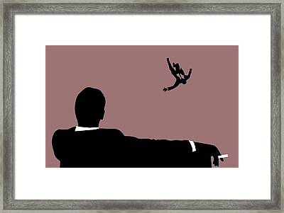 Mad Men Falling Framed Print by Dan Sproul