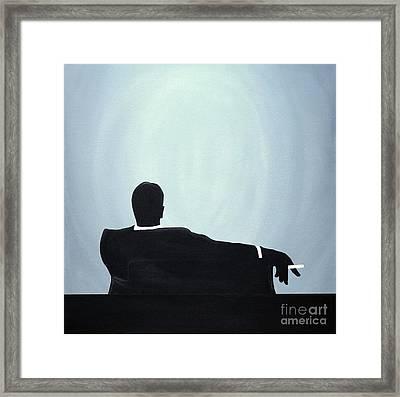 Mad Men In Silhouette #2 Framed Print