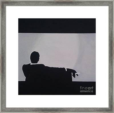 Mad Men In Silhouette Framed Print by John Lyes