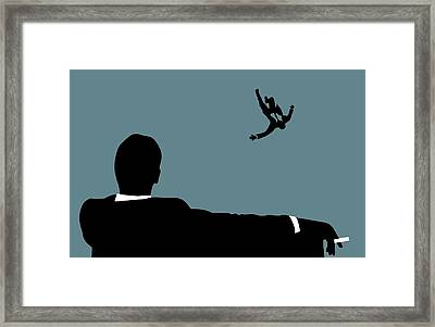 Mad Men On Blue Framed Print by Dan Sproul