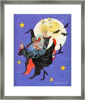 Mad Millie Moon Dance Framed Print by Richard De Wolfe