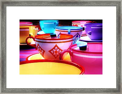 Framed Print featuring the photograph Mad Tea Party by Benjamin Yeager