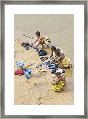 Madagascan River Scene Framed Print by Science Photo Library