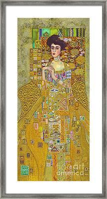 Madam Adele Bloch Bauer After Klimt Framed Print by Kate Bedell