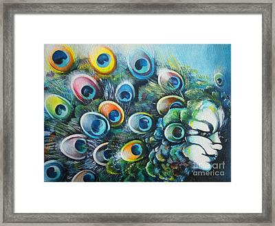 Madam Peacock Framed Print by Alessandra Andrisani