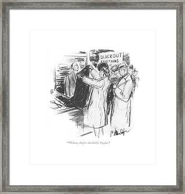 Madam, They're Absolutely Stygian Framed Print by Perry Barlow