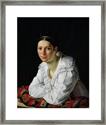 Madama Claude Marie Dubufe Framed Print by Claude-Marie Dubufe