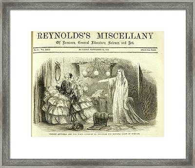 Madame Arundelli And Miss Winch Framed Print by British Library