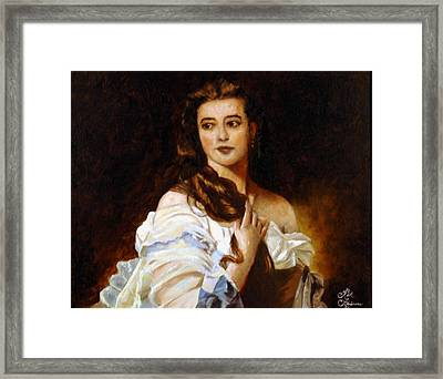 Framed Print featuring the painting Madame Barbe De Rimsky Korsakov by Rick Fitzsimons
