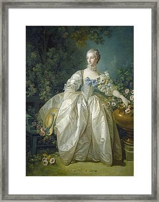 Madame Bergeret, C. 1766 Oil On Canvas Framed Print