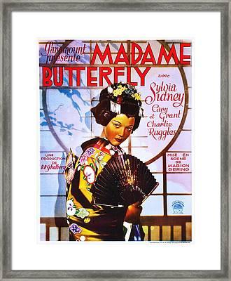 Madame Butterfly, Sylvia Sidney Framed Print by Everett