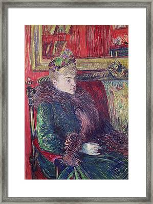 Madame De Gortzikoff, 1893 Oil On Canvas Framed Print
