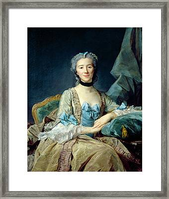 Madame De Sorquainville, 1749 Oil On Canvas Framed Print