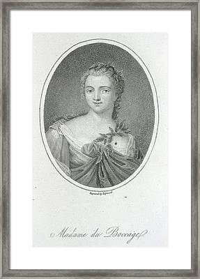 Madame Du Boccage Framed Print