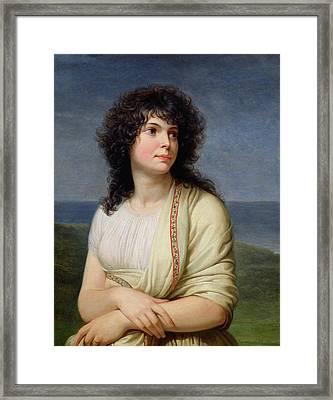 Madame Hamelin 1776-1851 Oil On Canvas Framed Print by Andrea the Elder Appiani