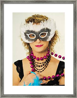 Madame Mardi Gras  Framed Print by ARTography by Pamela Smale Williams