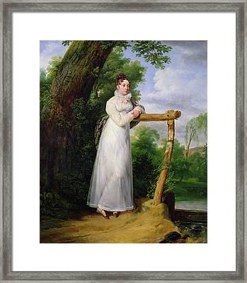 Madame Philippe Lenoir 1792-1874 1814 Oil On Canvas Framed Print
