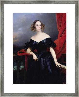 Madame Rampal, Comtesse De Grigneuseville Oil On Canvas Framed Print
